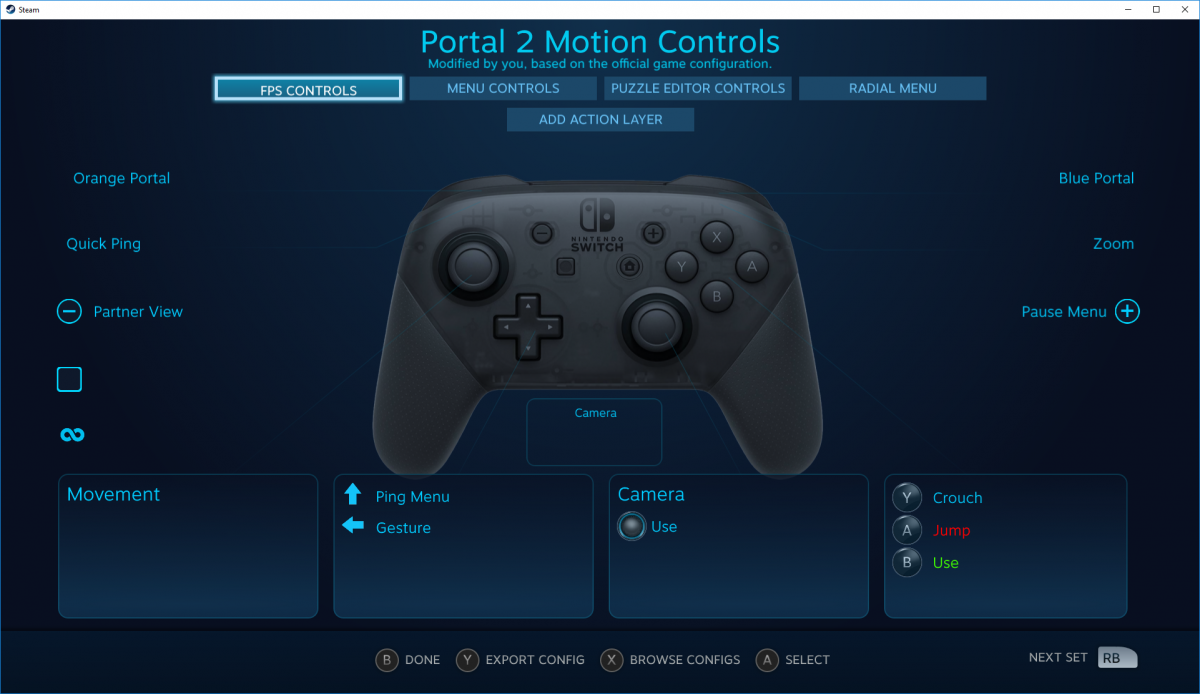 В Steam появилась поддержка геймпада Nintendo Switch Pro