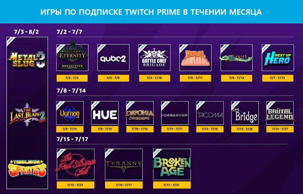 Twitch Prime предлагает 21 игру за ,99 в течение этого месяца
