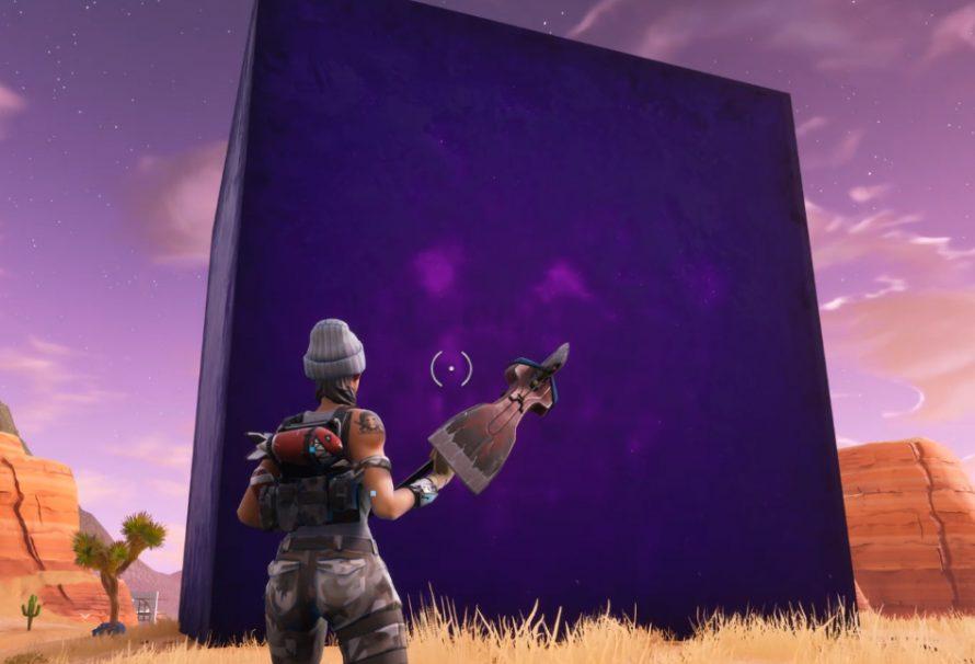 Огромный фиолетовый куб появился в Fortnite