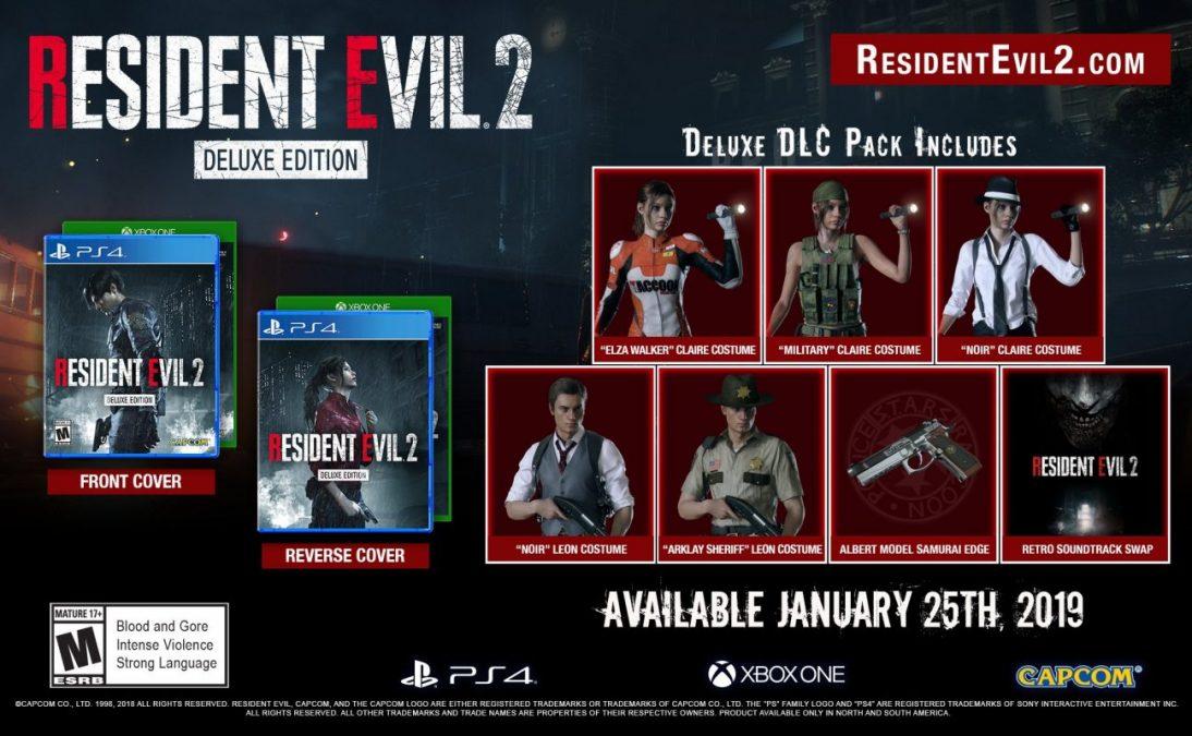 Компания Capcom предоставляет на выбор три издания Resident Evil 2